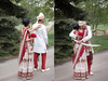 Cultural-real-wedding-indian-weddings-chicago-il-gold-red-mahogony-first-look-outdoor-setting.square