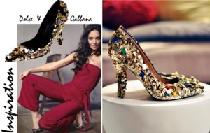 photo of wedding DIY for stylish brides bedazzled wedding shoes