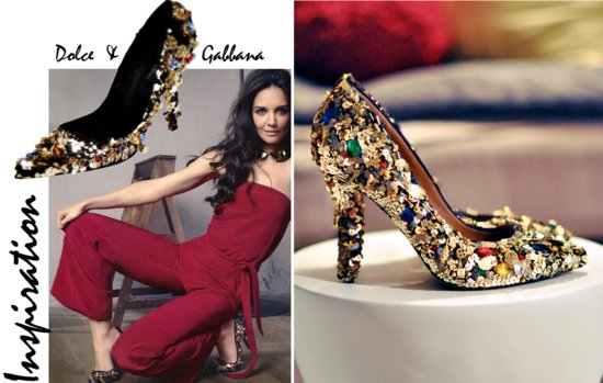wedding DIY for stylish brides bedazzled wedding shoes