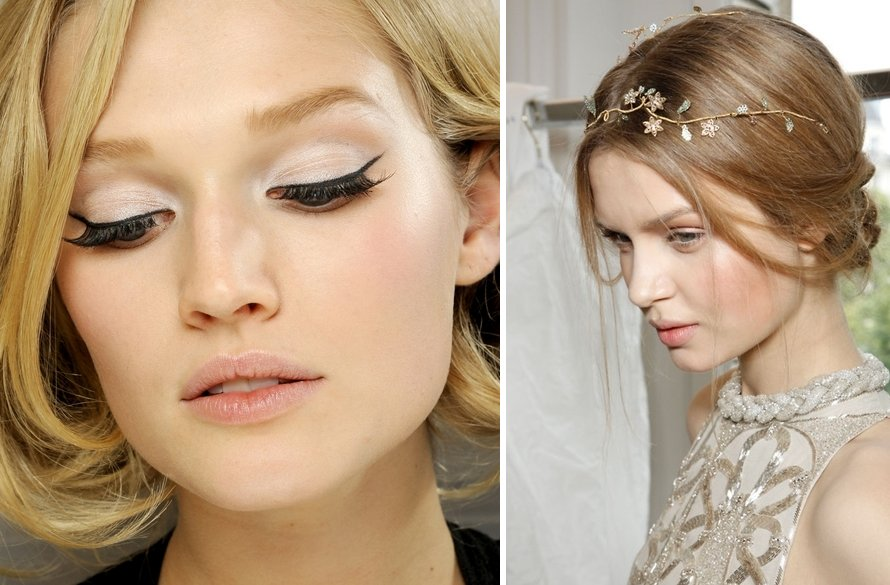 wedding makeup inspiration bridal beauty natural peach hues