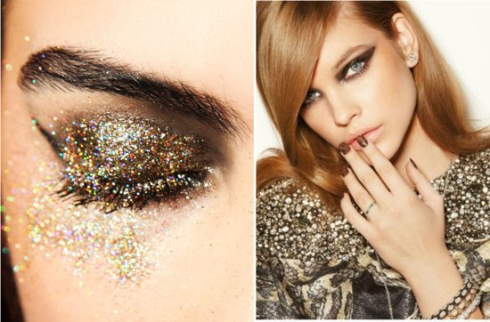 gorgeous wedding makeup bridal beauty inspiration sparkle dusted lids gold