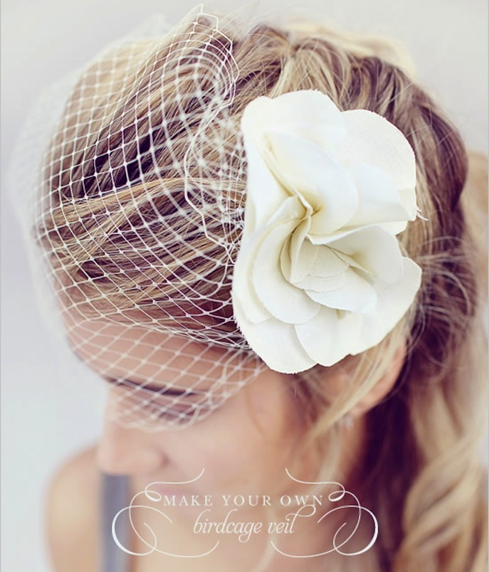 wedding DIY projects birdcage veil for vintage brides