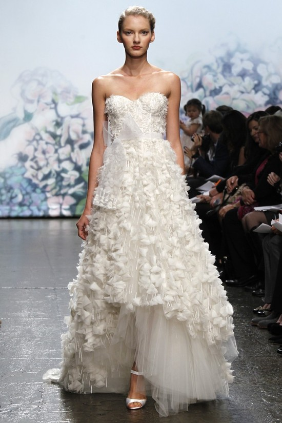 wedding dress monique lhullier bridal gowns fall 2012 garland