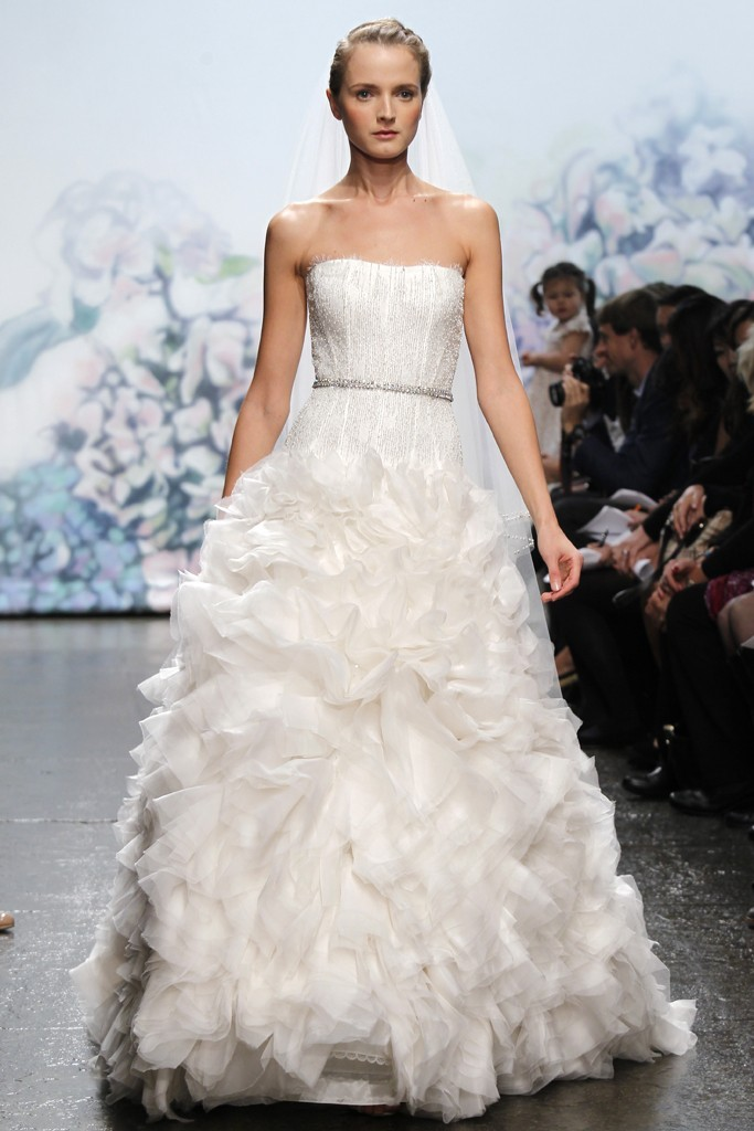 wedding dress monique lhullier bridal gowns fall 2012 adoration