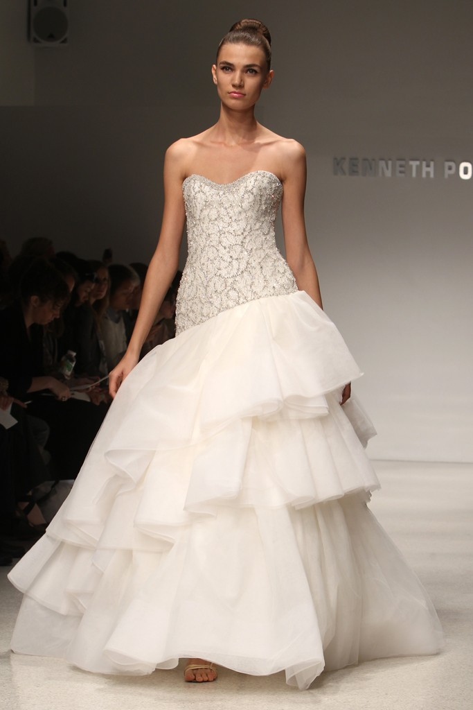 wedding dress kenneth pool bridal gowns fall 2012 12