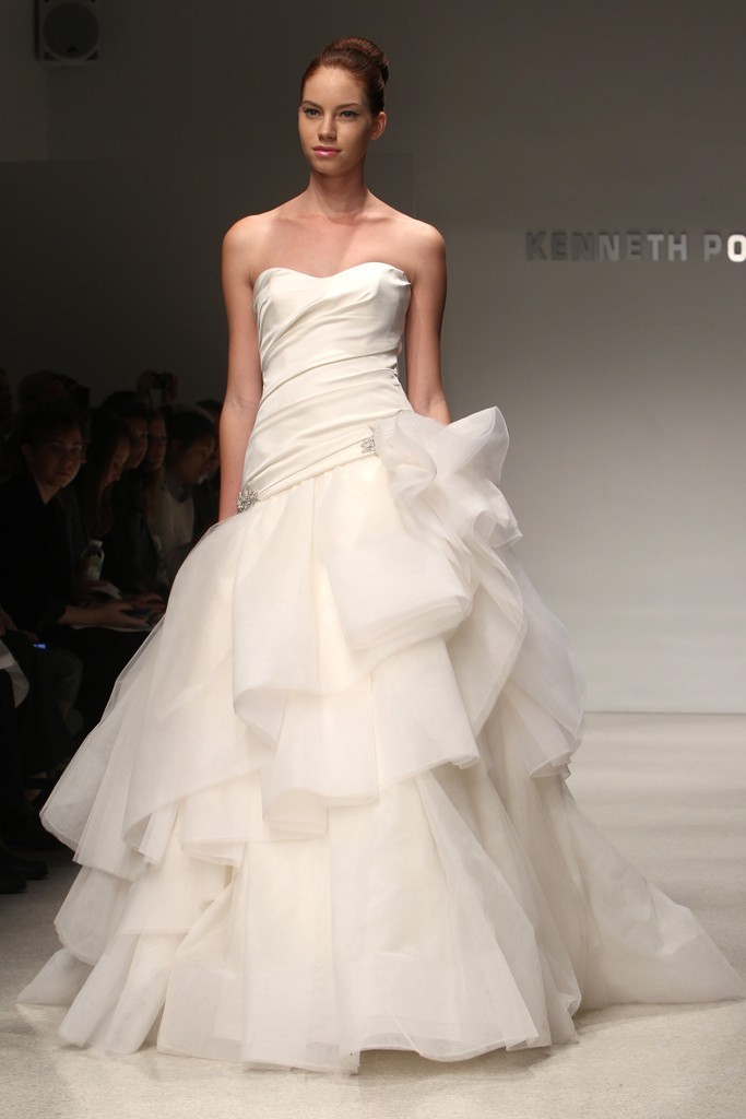wedding dress kenneth pool bridal gowns fall 2012 01