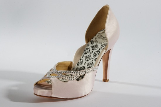 hey lady wedding shoes vintage inspired bridal heels blush pink