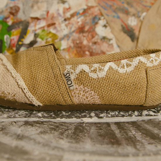 photo of Custom TOMS wedding shoes