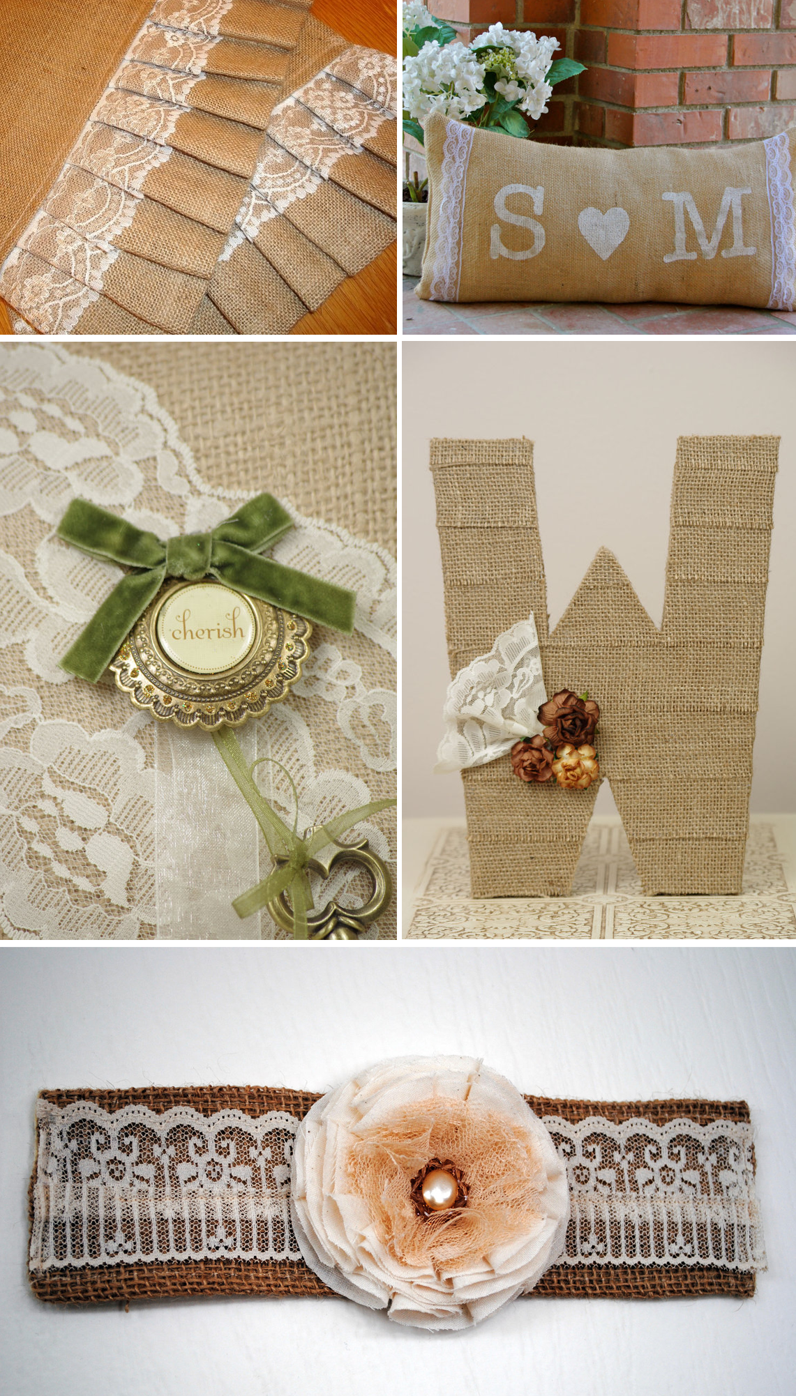 romantic lace burlap wedding inspiration bridal accessories ...
