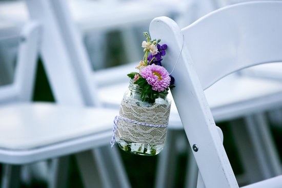 burlap lace mason jar wedding decor centerpieces 2