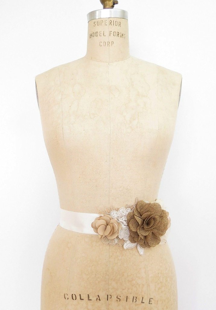 photo of Burlap wedding sash