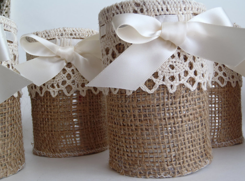 burlap lace wedding reception decor rustic weddings candles