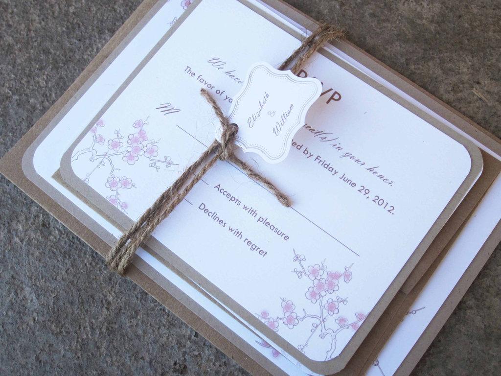 Cherry-blossom-wedding-invitation-tied-with-burlap-2.full