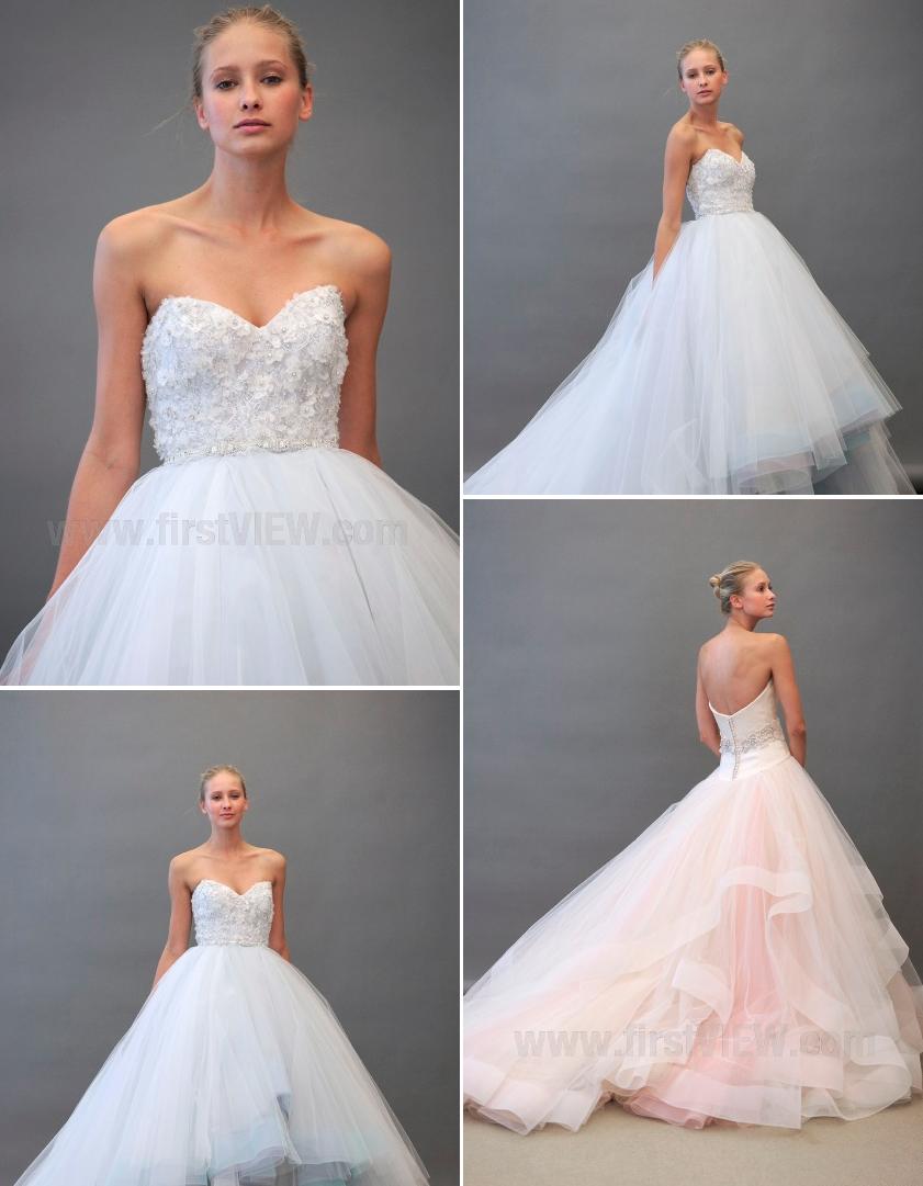 Wedding dresses fall 2012 lazaro bridal gowns non white for Non wedding dresses for brides