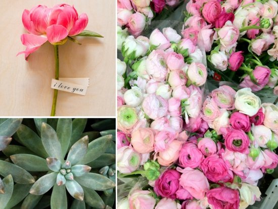 photo of Peonies, Ranunculus & Lush Eco Succulents