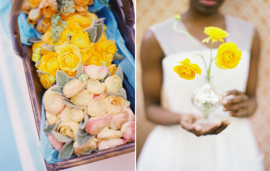 Bright-wedding-flowers-peonies-anemones-succulents-coral-yellow-baby-blue-silver-touches-2.full