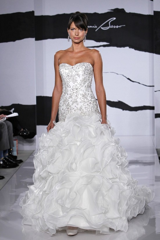 photo of wedding dress fall 2012 dennis basso for kleinfeld bridal 25