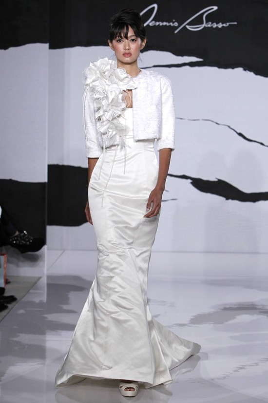 wedding dress fall 2012 dennis basso for kleinfeld bridal 18