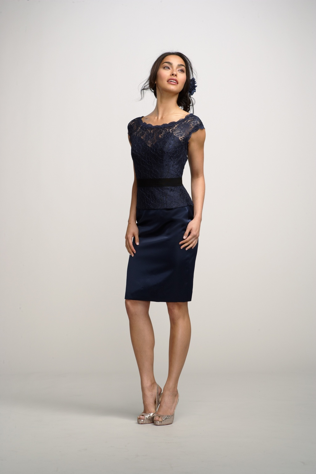 2012 bridesmaids dresses by watters bridesmaid gown LBD lace cap sleeves