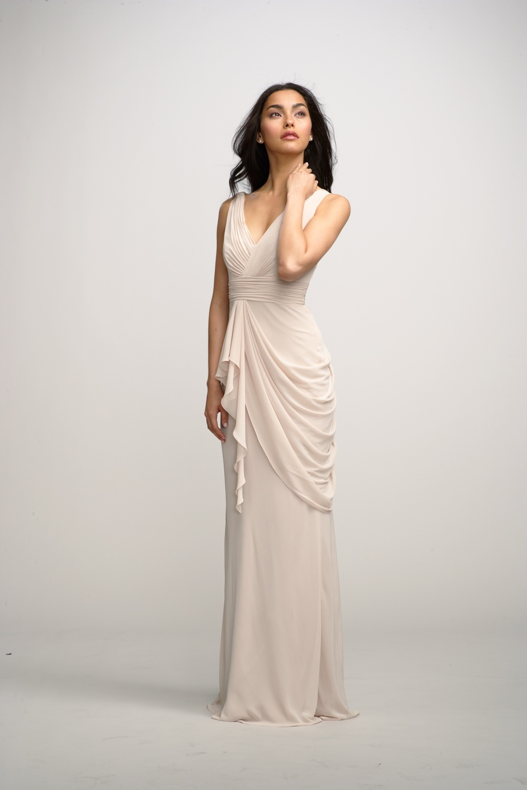 2012 bridesmaids dresses by watters bridesmaid gown cream long with ...