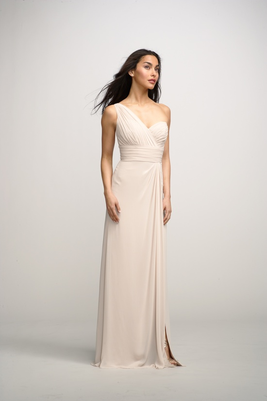 2012 bridesmaids dresses by watters bridesmaid gown one shoulder cream