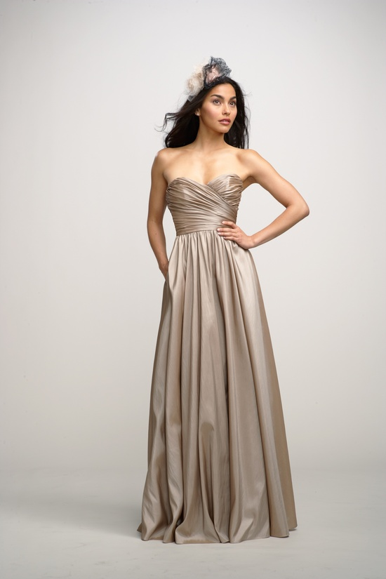 2012 bridesmaids dresses by watters bridesmaid gown metallic taupe