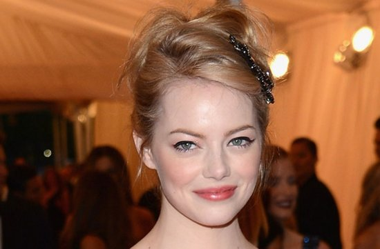 wedding hair makeup inspiration 2012 met ball emma stone