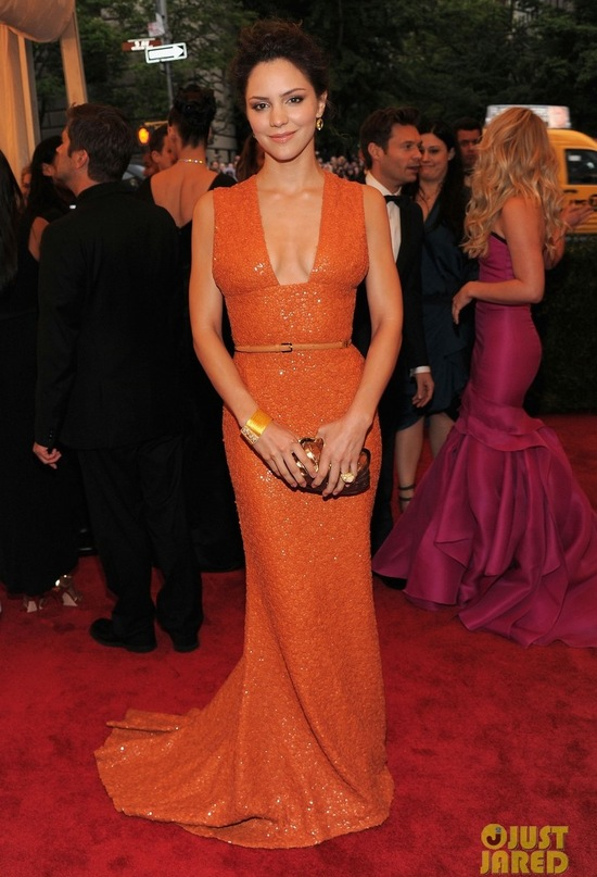 2012 met ball wedding style trends bridal inspiration orange