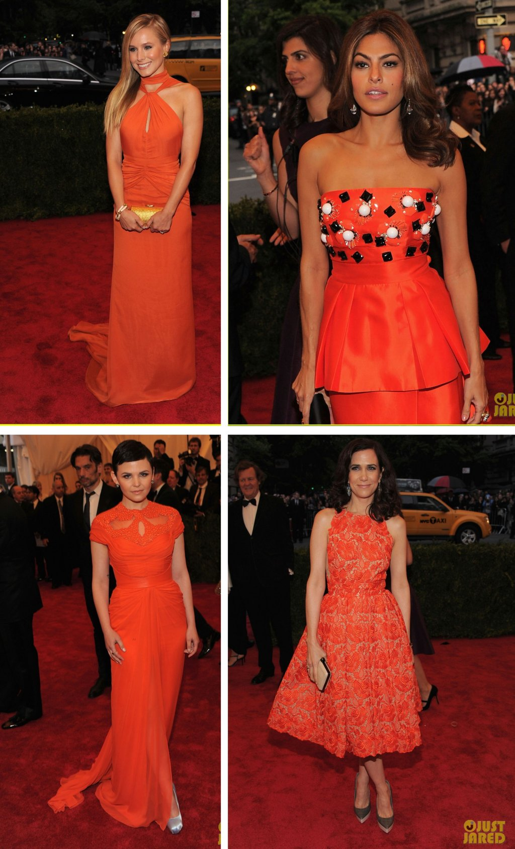 Met-gala-wedding-inspiration-orange-gowns-tangerine-tango.full