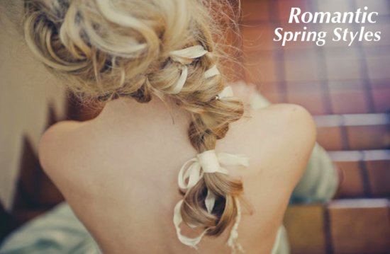 photo of Romantic wedding hairstyles for spring