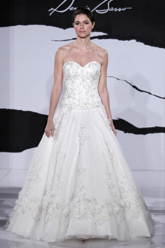 wedding dress fall 2012 dennis basso for kleinfeld bridal 12