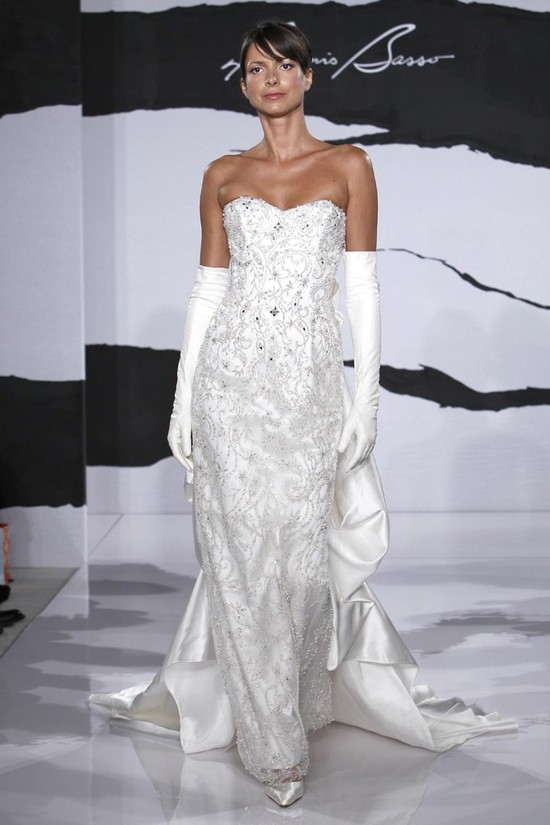 wedding dress fall 2012 dennis basso for kleinfeld bridal 1