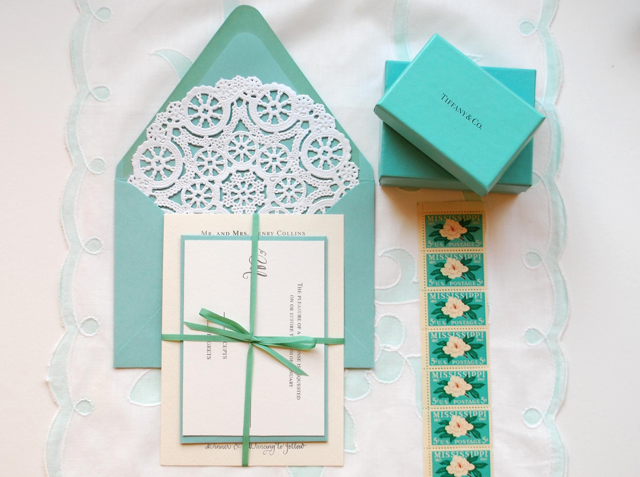 Wedding Invitations Tiffany Blue: Tiffany Blue White Lace Wedding Invitations