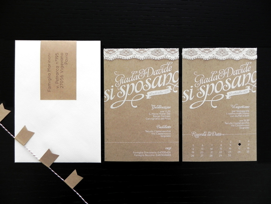 Kraft Paper Lace Wedding Invitations romantic handmade weddings 1