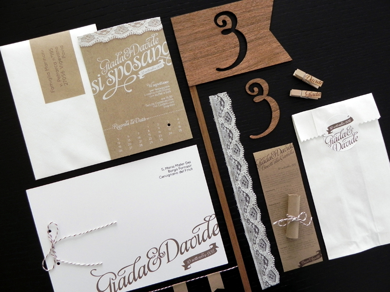Kraft Paper Lace Wedding Invitations Romantic Handmade Weddings 2