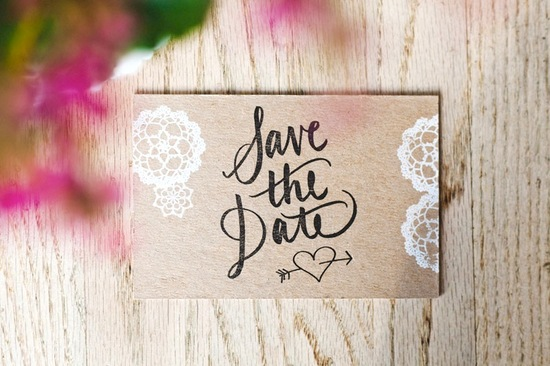 wood lace wedding save the date rustic wedding invitations 1