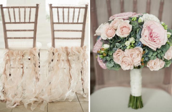 light pink khaki wedding colors bridal bouquet ceremony