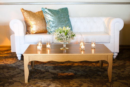 Gold and teal wedding color inspiration