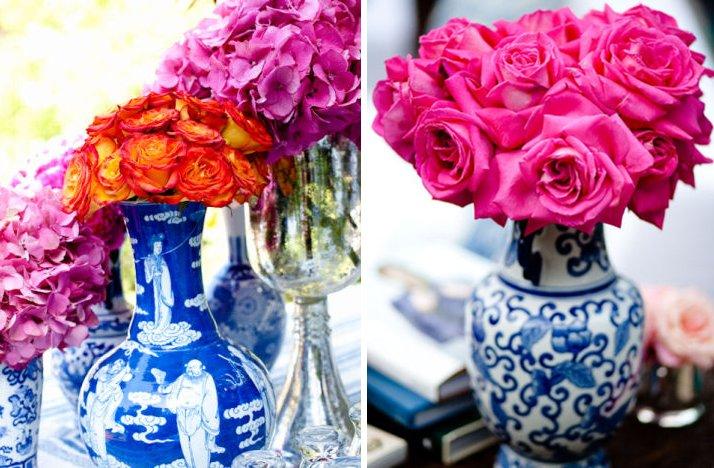 hot pink orange blue wedding color palette wedding reception ...