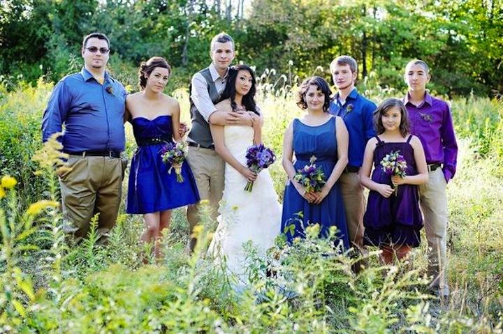 Blue Color Palette Wedding Purple Blue Wedding Color