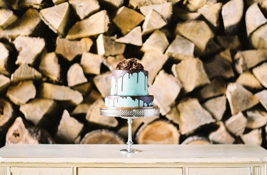 Turquoise and brown wedding color palette.