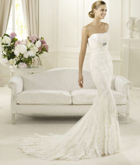 2013 wedding dress Pronovias bridal gowns fashion collection Dietrich