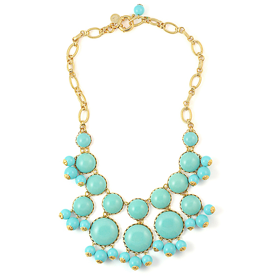 turquoise statement wedding necklace loren hope