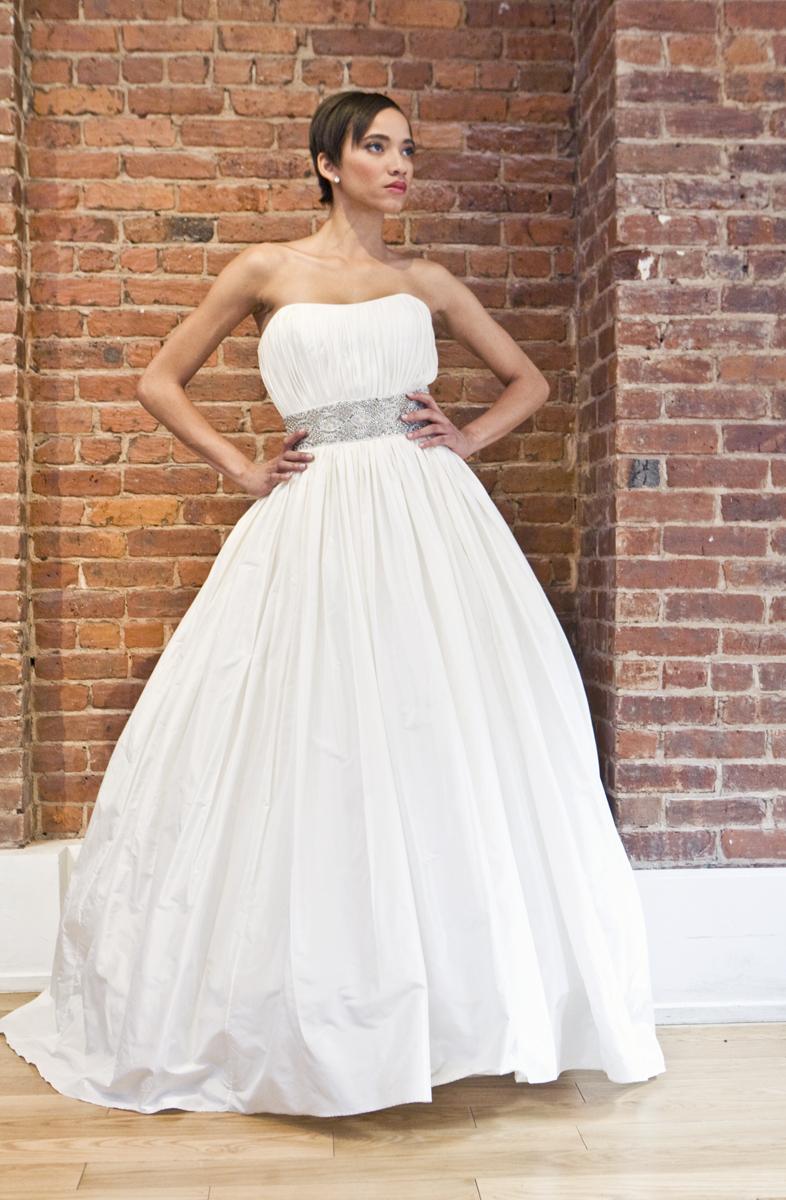 Eco friendly wedding dress the cotton bride strapless for Bra for strapless wedding dress