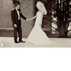 Black-white-wedding-photos-first-look-bride-wears-stunning-veil-mermaid-dress.square
