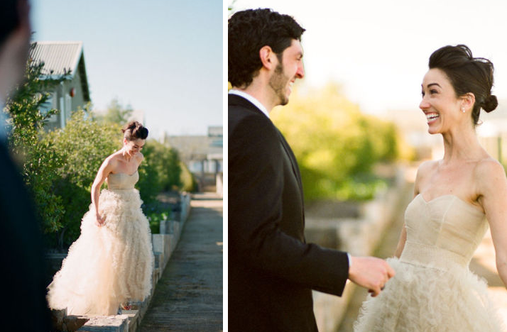 Favorite First Look Wedding Photos Bride Groom Excited