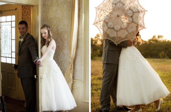 favorite first look wedding photos bride groom behind umbrella