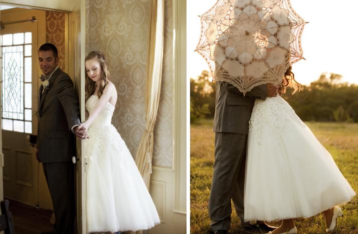 Favorite First Look Wedding Photos Bride Groom Behind Umbrella