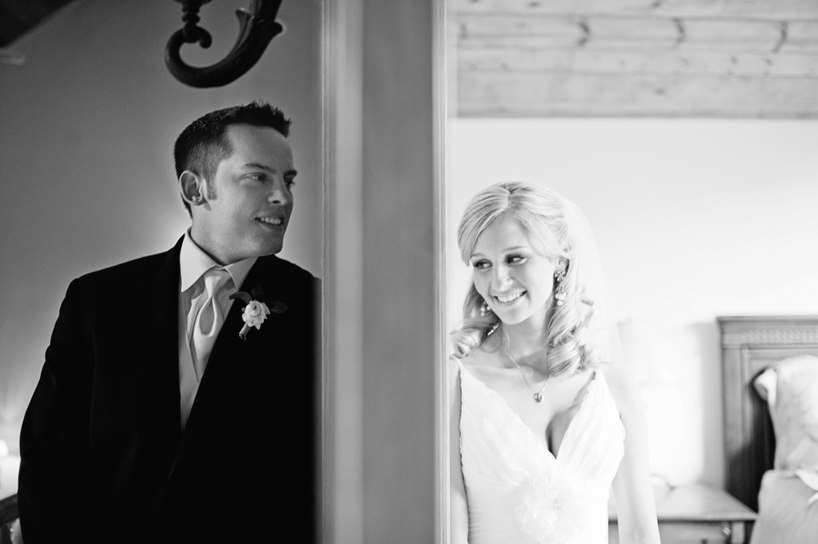 wedding photography first looks between bride and groom real wedding photos black and white