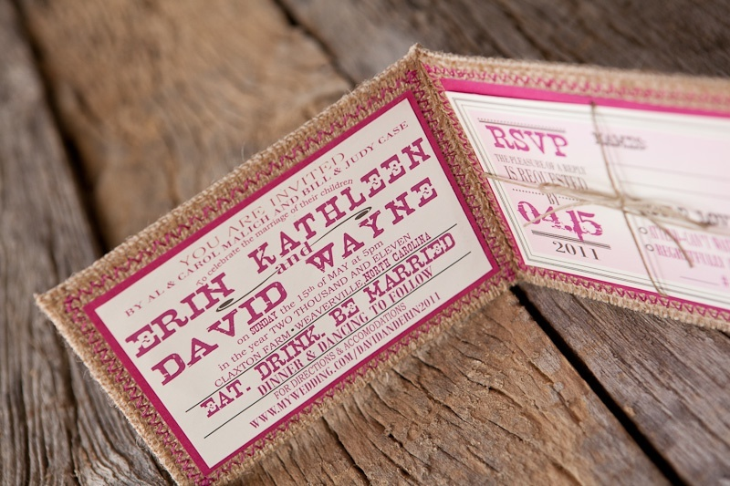 Burlap-pink-monogram-wedding-invitation-detail-hot-pink-wedding-colors-3.full